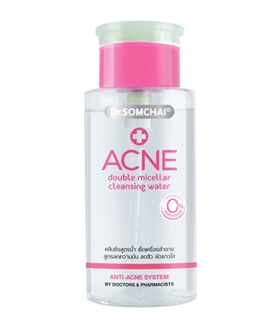 Dr.SOMCHAI Acne Double Micellar Cleansing Water (แถมรีฟิล)