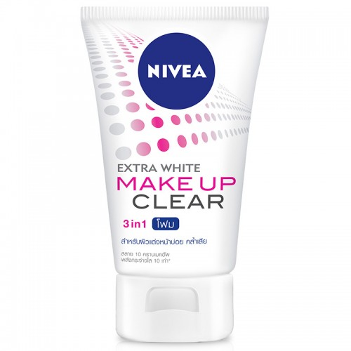 NIVEA EXTRA WHITE MAKE UP CLEAR CLEANSING MUD FOAM