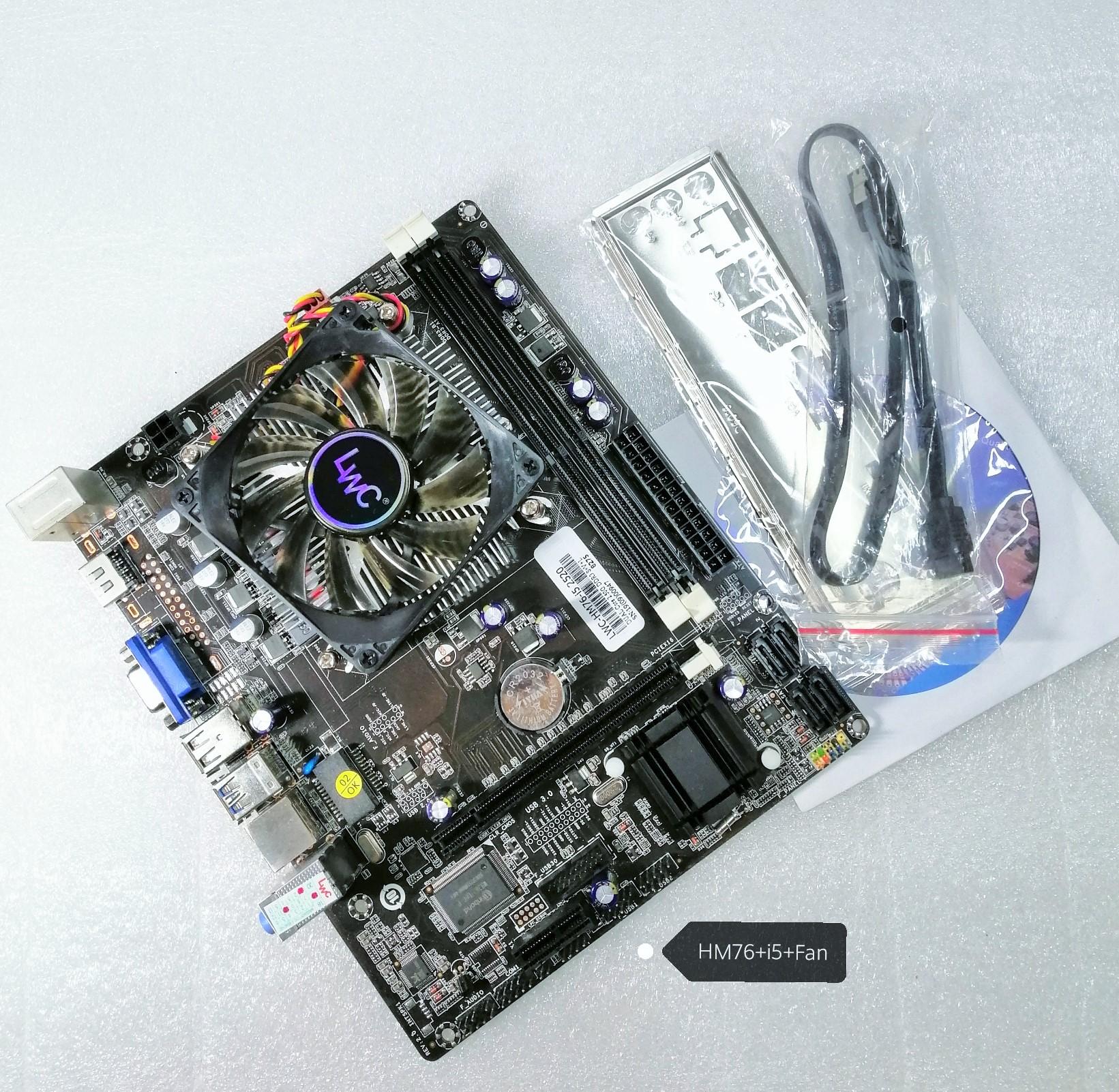 Mainboard HM76 +CPU i5 +Fan