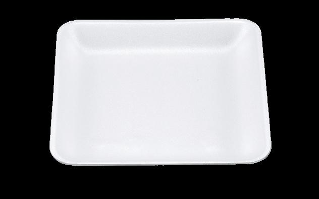 ถาดโฟมใส่อาหาร สีขาว V-8