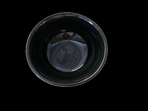 Ceramic Bowl for Rice Black Size 12 cm