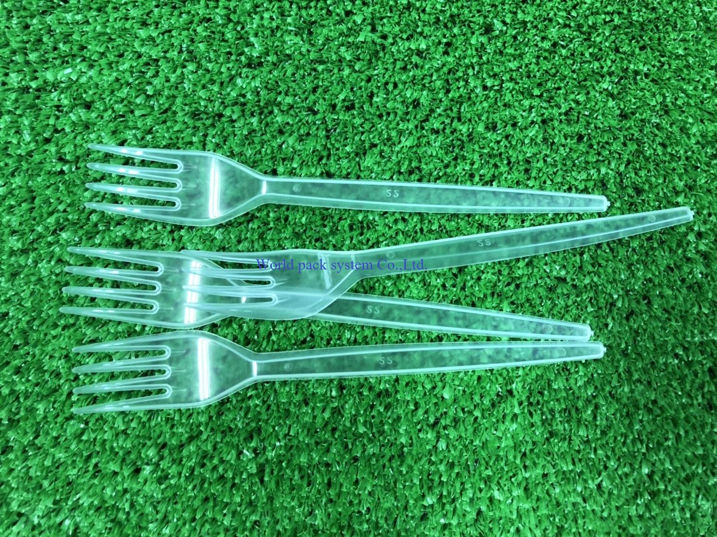 Plastic Fork size 17 cm. (100 pcs)