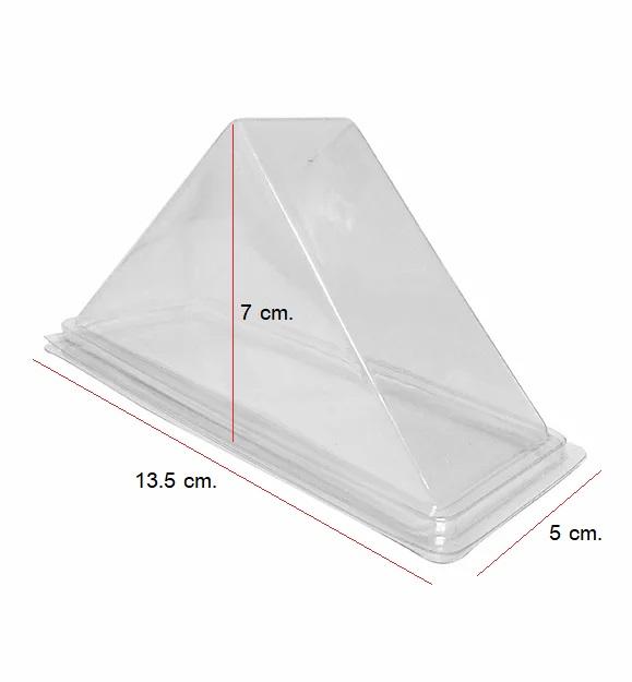กล่องแซนวิช สามเหลี่ยม PET ขนาด 5 x 13.5 x 7 ซม.