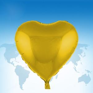 """ฟอยล์หัวใจ 18"""" สีทอง"""