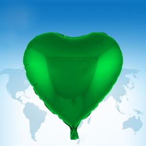 """ฟอยล์หัวใจ 18"""" สีน้ำเขียว"""