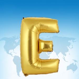 ฟอยล์ตัวอักษร 40 นิ้ว สีทอง E