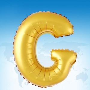 ฟอยล์ตัวอักษร 40 นิ้ว สีทอง G