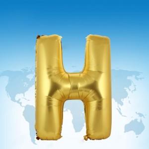 ฟอยล์ตัวอักษร 40 นิ้ว สีทอง H