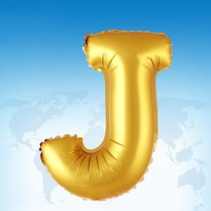 ฟอยล์ตัวอักษร 40 นิ้ว สีทอง J