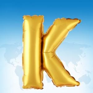 ฟอยล์ตัวอักษร 40 นิ้ว สีทอง K