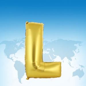 ฟอยล์ตัวอักษร 40 นิ้ว สีทอง L