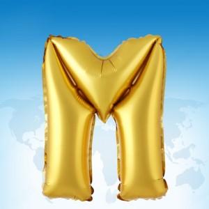 ฟอยล์ตัวอักษร 40 นิ้ว สีทอง M