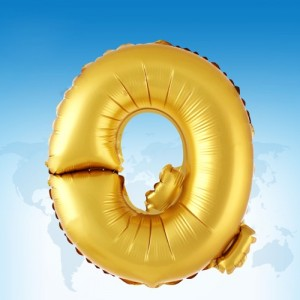ฟอยล์ตัวอักษร 40 นิ้ว สีทอง Q
