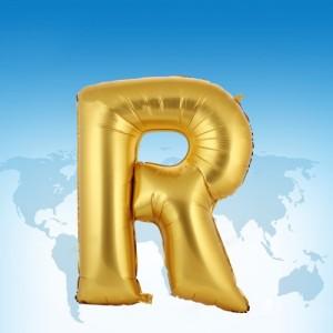 ฟอยล์ตัวอักษร 40 นิ้ว สีทอง R