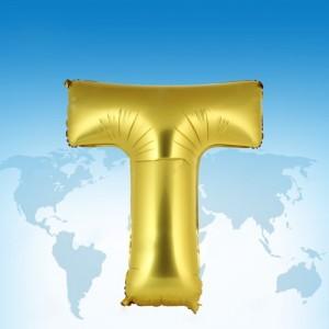 ฟอยล์ตัวอักษร 40 นิ้ว สีทอง T