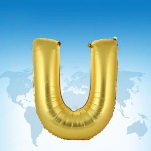 ฟอยล์ตัวอักษร 40 นิ้ว สีทอง U
