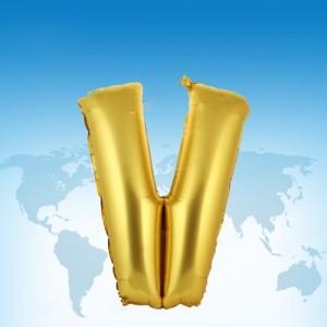 ฟอยล์ตัวอักษร 40 นิ้ว สีทอง V
