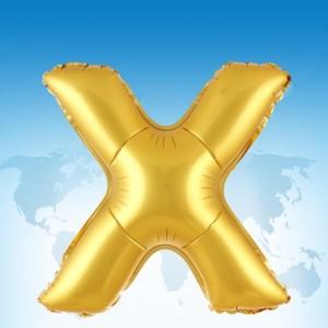 ฟอยล์ตัวอักษร 40 นิ้ว สีทอง X