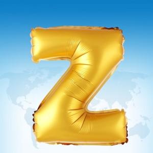 ฟอยล์ตัวอักษร 40 นิ้ว สีทอง Z