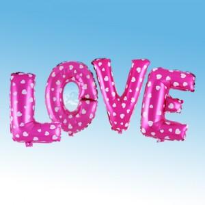 ฟอยล์ตัวอักษร LOVE 16 นิ้ว สีชมพู