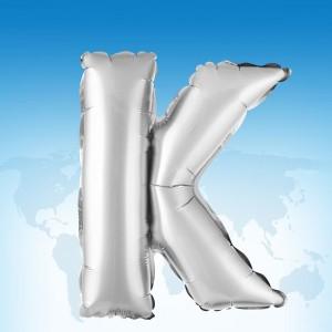 ฟอยล์ตัวอักษร 40 นิ้ว สีเงิน K