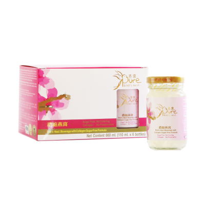 PURE Bird's Nest Beverage with Collagen Sugar Free Formula 110 ml.
