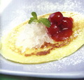 Fruit Pancake with Bird's Nest