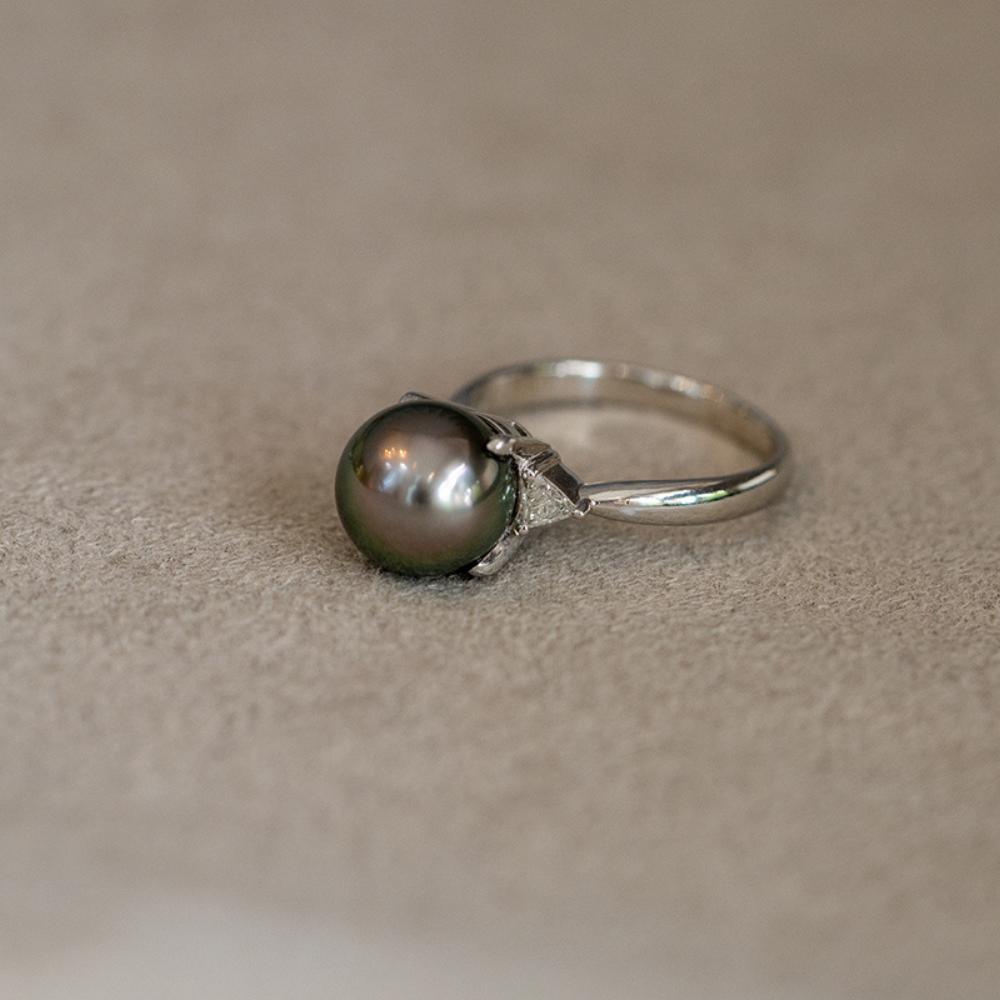 แหวนไข่มุกแท้ตาฮิติ (Tahiti Pearl Ring)