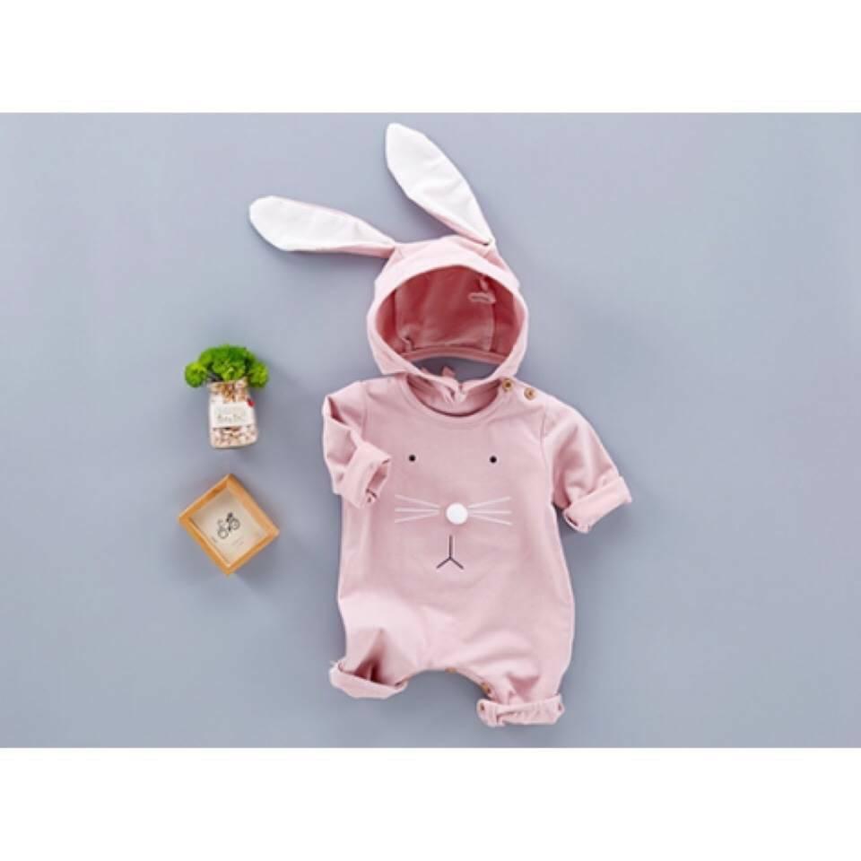 บอดี้สูทกระต่ายน้อย สีชมพู