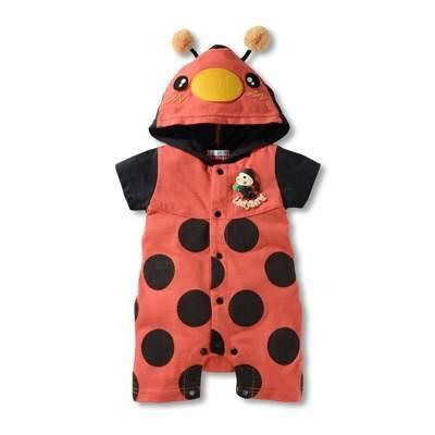 บอดี้สูทเด็กลาย Ladybug สีแดง