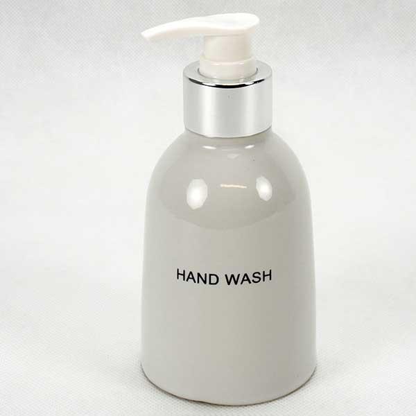 Dispenser dia 6.5 H. 10 cm.; White-Hand Wash