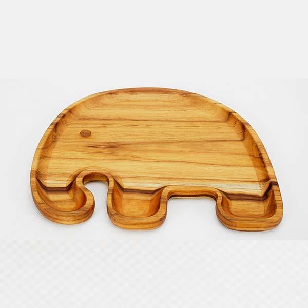 Food plate elephant shape 20x24x1 cm.