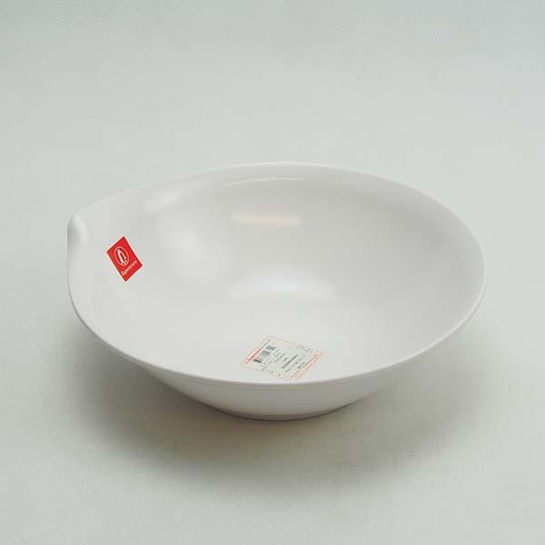 """Melamine Bowl 7.5"""" White"""