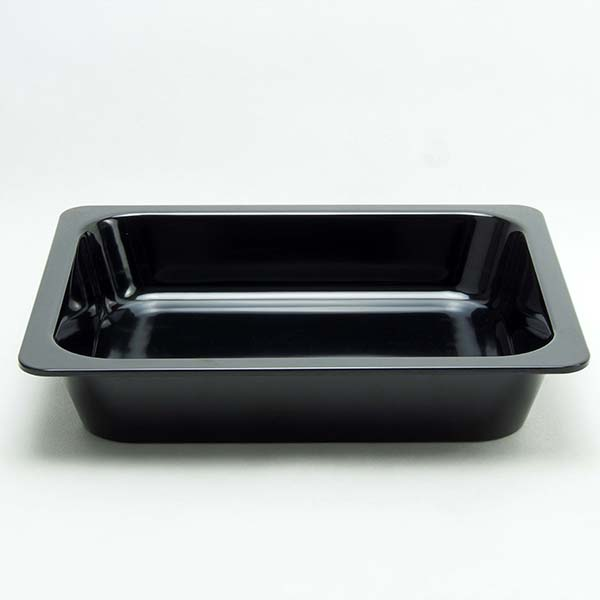 กะบะใส่อาหาร 325x265x70 มม. สีดำ