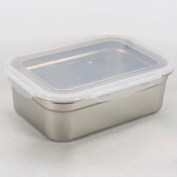 Stainless steel box with lid 5.8 lt.