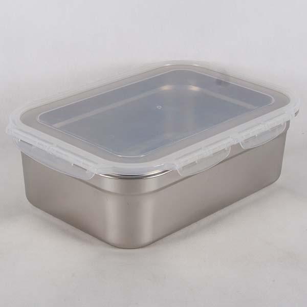 กล่องเก็บอาหารสแตนเลสพร้อมฝา 7.8 ลิตร