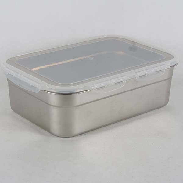 Stainless steel box with lid 11 lt.