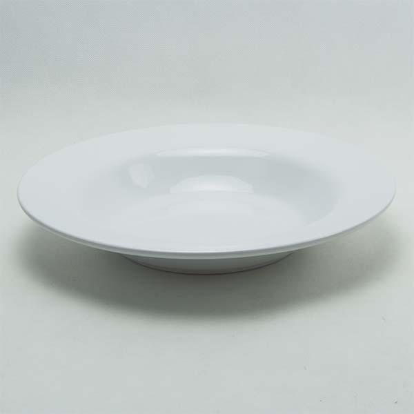 "Deep round plate 12 ""white"