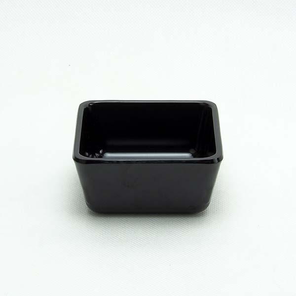 """Square bowl 2.75 """" Black"""