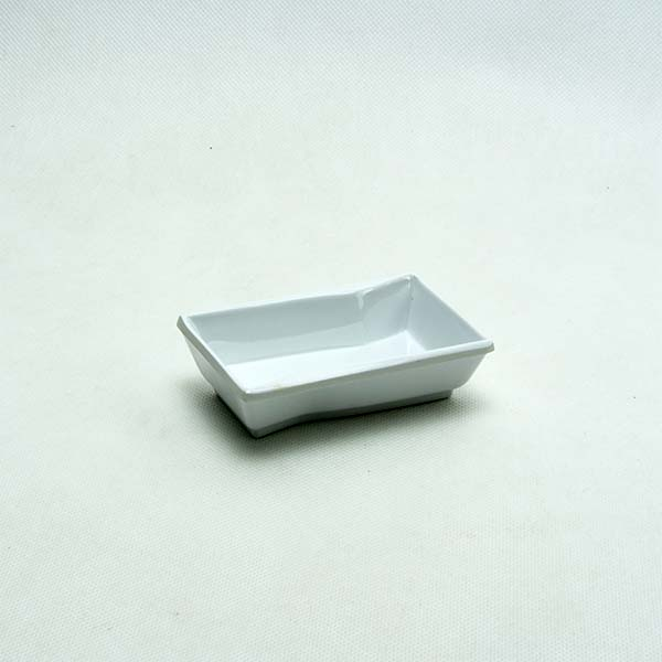 """Square sauce cup 3.5 """" white"""