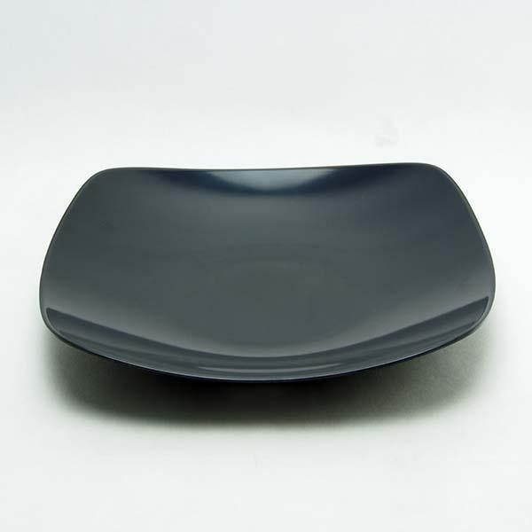 "Melamine Square Plate 10.5"" Black"