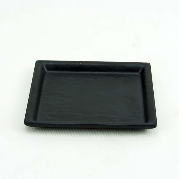 "Melamine Square Plate 6 ""Black"
