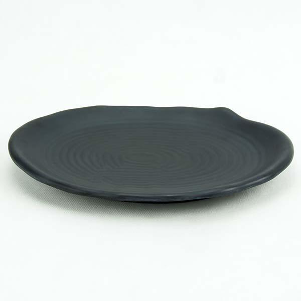 Oval Melamine plate Black 25.8x17.4x2.8 cm.