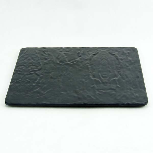 Melamine Square Plate 31x31x1.4 cm. Black