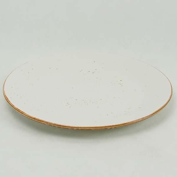 "Rustic White Dinner plate 11"""