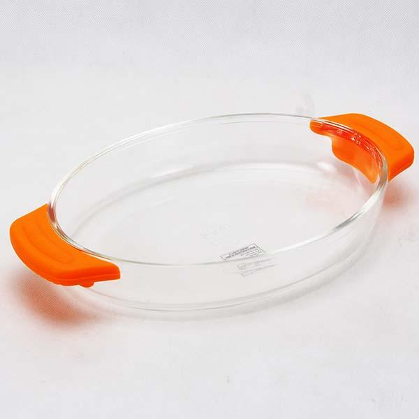 Glass baking tray 302x178x47 mm/ 1.12 Lt. Orange