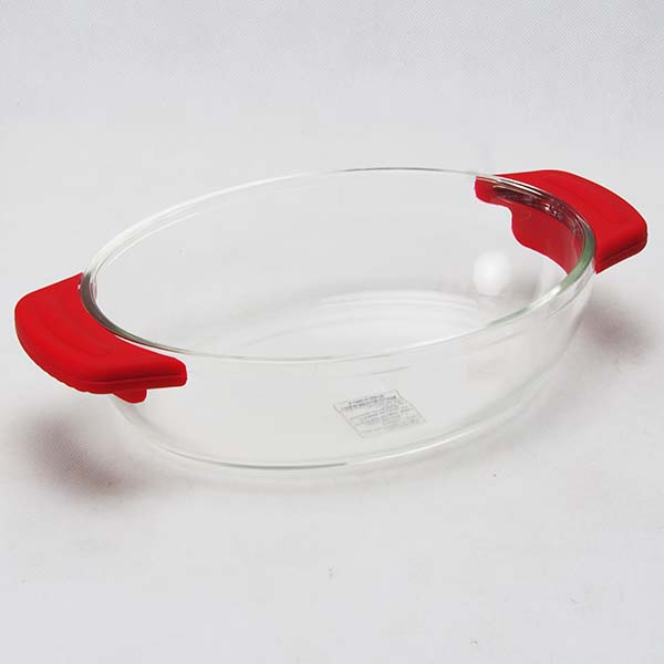 Glass baking tray  270x162x60 mm. / 1.17 Lt. Red
