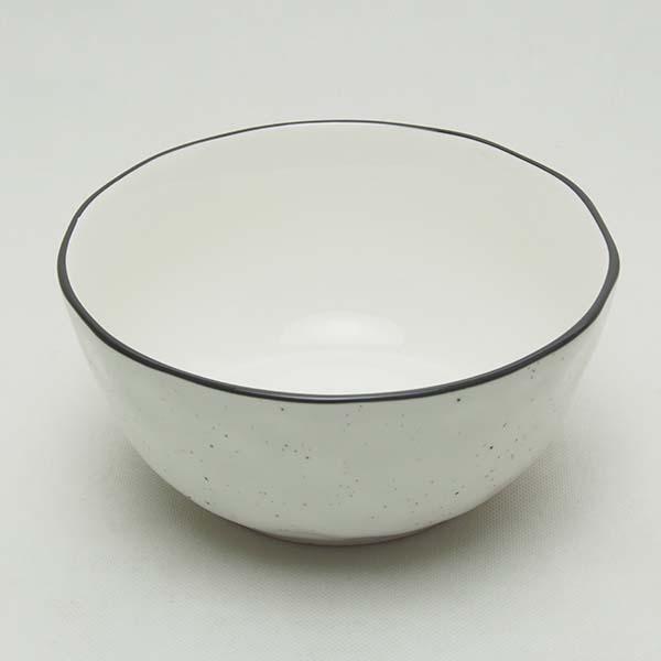18 cm. bowl- Black Dot