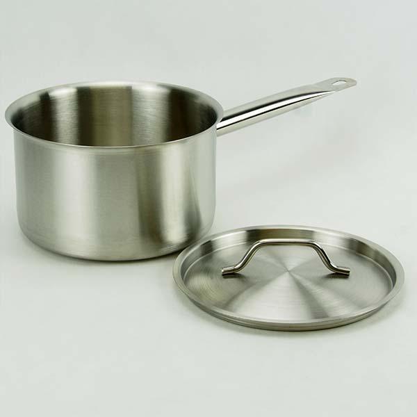 Saucepan 24 cm. with lid, S/S 8 lt.