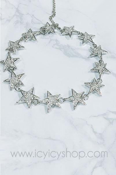 J11201 Star Diamond Choker